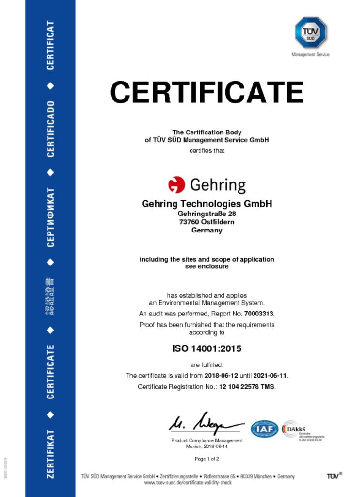 Zertifikat TMS deutsch A4